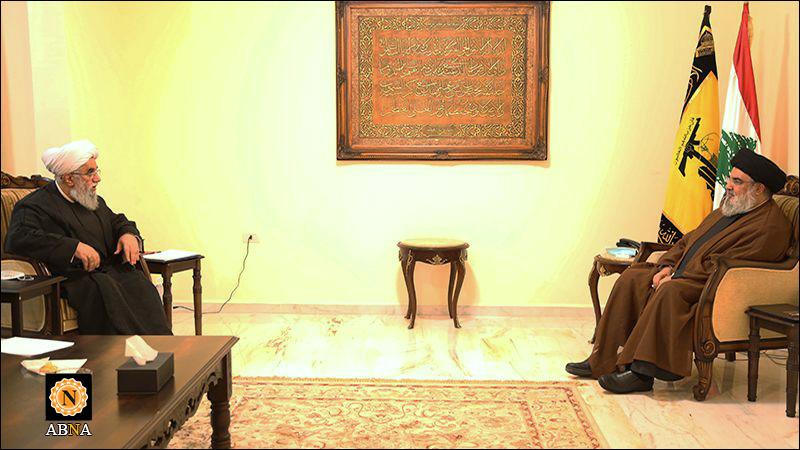 دبیرکل مجمع جهانی اهلبیت(ع) و سید حسن نصرالله دیدار کردند + ویدیو