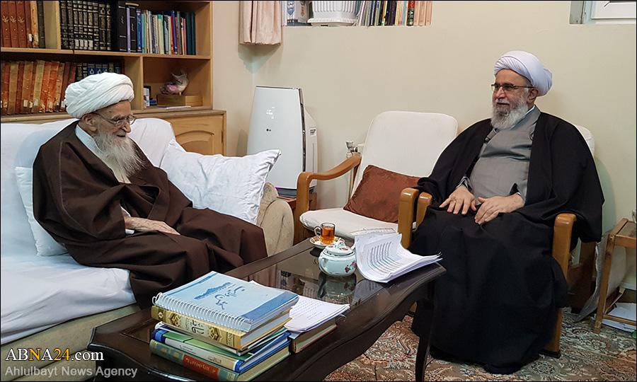 Photos: Ayatollah Ramazani met Grand Ayatollah Safi Golpaygani