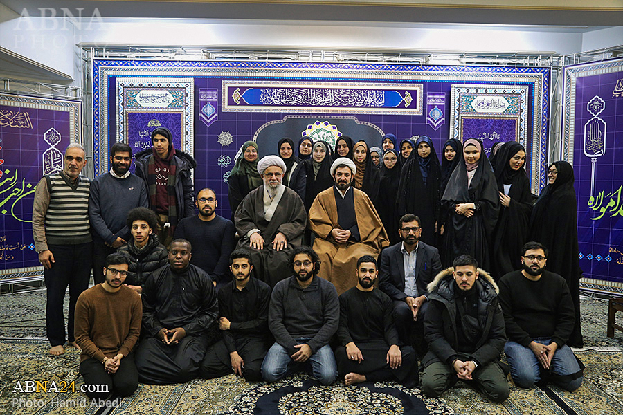 Photos: Group of British, Swedish Shia youth meet with Ayatollah Ramazani