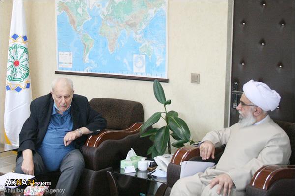 عکس خبری/ دیدار سفیر فلسطین با دبیرکل مجمع جهانی اهلبیت(ع)