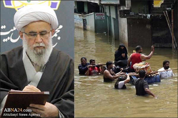 حیدرآباد میں سیلاب سے متاثرہ افراد کے ساتھ اہل بیت(ع) عالمی اسمبلی کے سیکرٹری جنرل کا اظہار ہمدردی