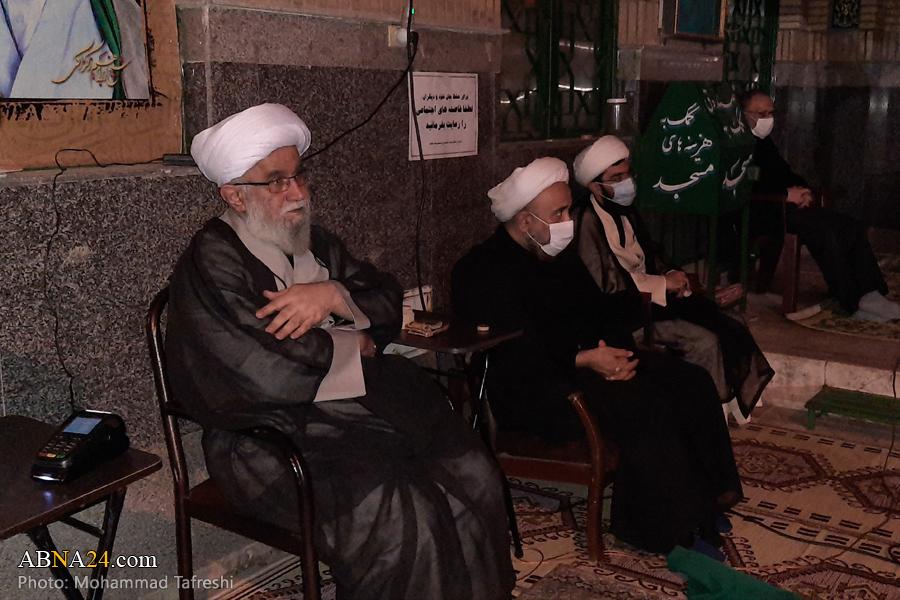 تصویری رپورٹ/مسجد علی بن الحسین میں منعقدہ مجلس امام سجاد (س) کو آیت اللہ رمضانی کا خطاب