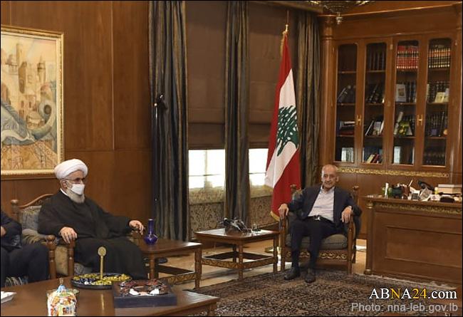 Secretary-General of AhlulBayt (a.s.) World Assembly met Speaker of Lebanese Parliament + Photo