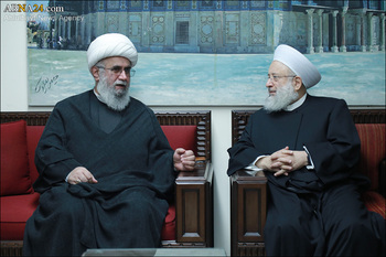 Photos: Secretary-General of AhlulBayt (a.s.) World Assembly met Head of Intl. Union of Resistance Scholars