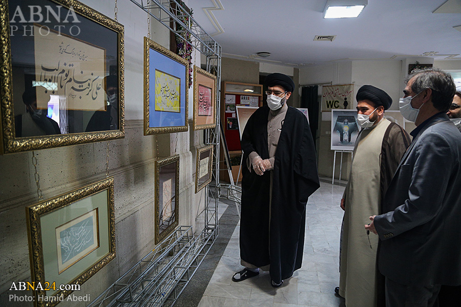 Photos: Exhibition of art works of Intl. Conference of Hazrat Abu Talib (a.s.)