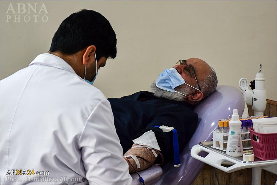 تقرير مصور / أمين عام المجمع العالمي لأهل البيت (ع) يتبرع بالدم