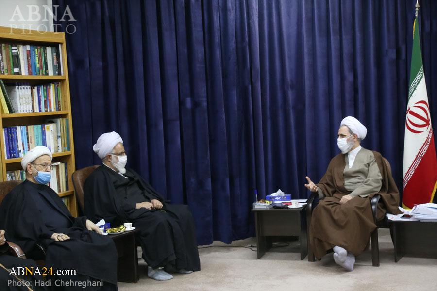 عکس خبری/ دیدار اعضای دبیرخانه همایش حضرت ابوطالب(ع) با آیتالله اعرافی