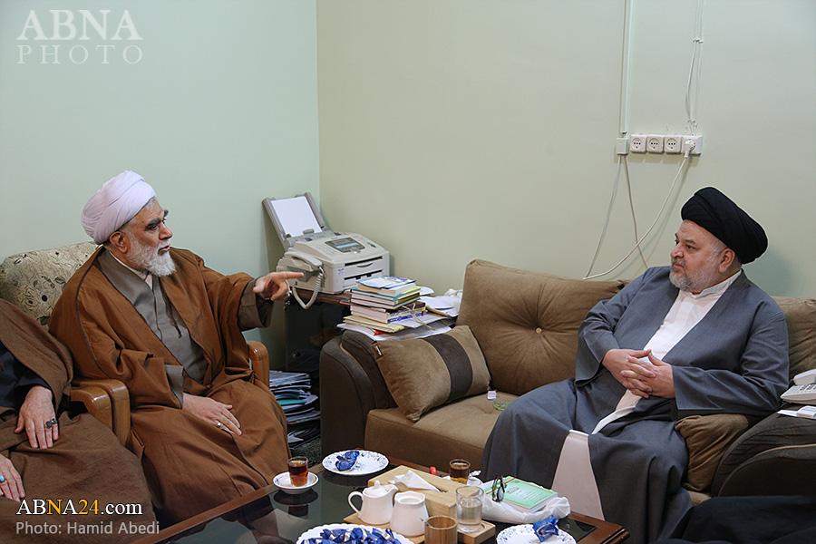 گزارش تصویری/ دیدار دبیرکل مجمع جهانی اهل بیت(ع) و نماینده آیت الله سیستانی در ایران