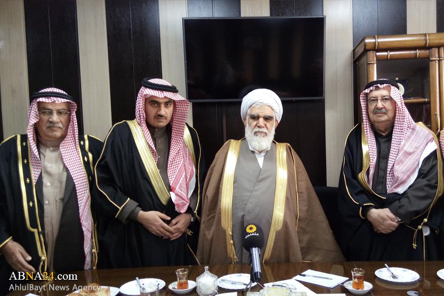 Photos: Group of Syrian tribal chiefs meet with Ayatollah Akhtari in Tehran