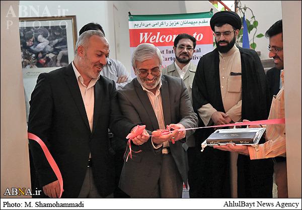 نماینده جهاد اسلامی فلسطین نمایشگاه جشنواره بین المللی کاریکاتور روز جهانی قدس را افتتاح کرد