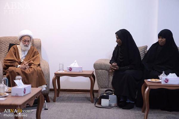 Photos: Daughters of Sheikh Zakzaky meet with Ayatollah Isa Qassim